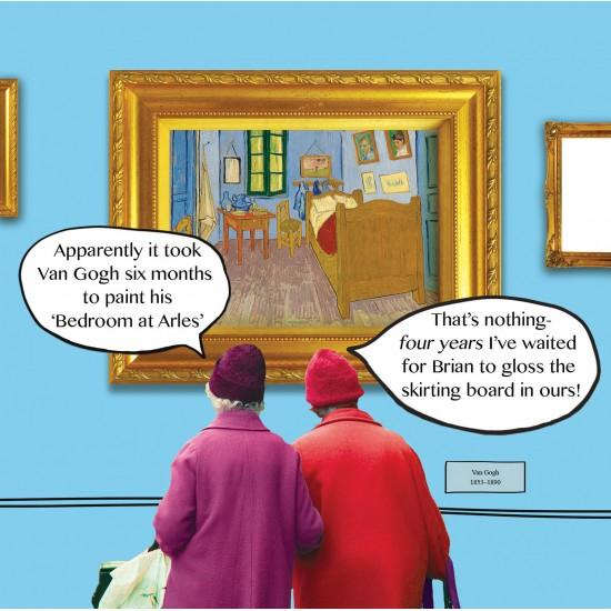 Bedroom at Arles Van Gogh Funny Blank Greeting Card - Irene & Gladys 069641