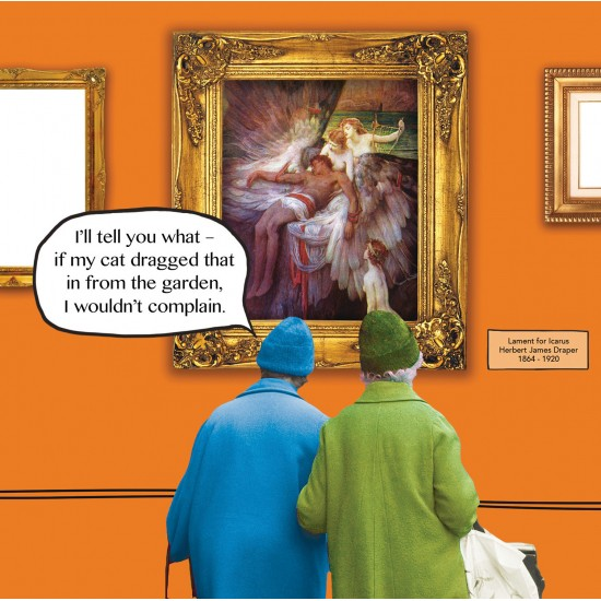 No Complaints - The Lament for Icarus Draper - Funny Blank Greeting Card - Irene & Gladys 081490