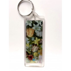 Bosschaert's A Still Life of Flowers in a Wan-Li Vase 3D Keyring by The National Gallery