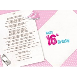Girl's 16th Birthday Greeting Card - Born in 2005 - Milestone Age 16 - Interesting Facts Inside from 2005 - Attractive Foil Finish (YA236)
