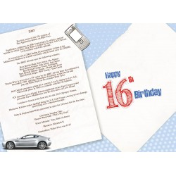 Boy's 16th Birthday Greeting Card - Born in 2005 - Milestone Age 16 - Interesting Facts Inside from 2005 - Attractive Foil Finish (YA237)