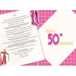 Female 50th Birthday Greeting Card - Born in 1971 - Milestone Age 50 - Interesting Facts Inside from 1971 - Attractive Foil Finish (YA246)