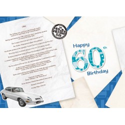 Male 60th Birthday Greeting Card - Born in 1961 - Milestone Age 60 - Interesting Facts Inside from 1961 - Attractive Foil Finish (YA249)