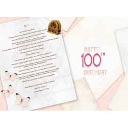 Female 100th Birthday Greeting Card - Born in 1921 - Milestone Age 100 - Interesting Facts Inside from 1921 - Attractive Foil Finish (YA260)
