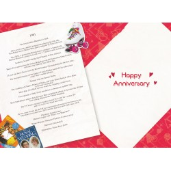 Ruby Wedding Anniversary Card - Married in 1981 - 40th Wedding Anniversary Card from The Down Memory Lane Range with Facts Inside- Attractive Foil Finish