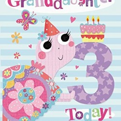 To A Special Granddaughter 3 Today Snail & Cake Design 3rd Happy Birthday Card