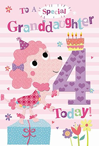To A Special Granddaughter 4 Today Dog Cake Design