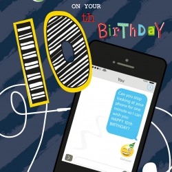 To The Most Brilliant Grandson on your 10th Birthday Phone and Text Message Design Greeting Card