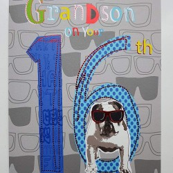 To An Awesome Grandson On Your 16th Birthday Greeting Card