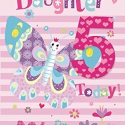 To A Special Daughter 5 Today Butterfly Presents Design 5th Happy Birthday Card