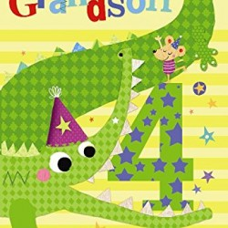 To A Special Grandson 4 Today Crocodile & Mouse Design Happy Birthday Card