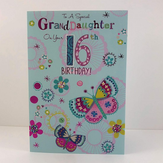 To A Special Granddaughter On Your 16th Birthday Greeting Card