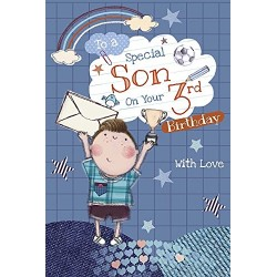 To A Special Son On Your 3rd Birthday With Love Happy Birthday Card