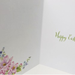 Wishing you a wonderful Easter Greeting Card with Church and Flowers EAS009