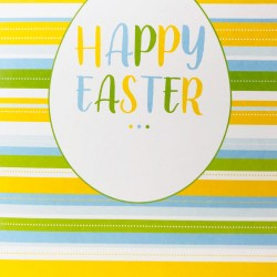 Happy Easter... Greeting Card with pastel stripes EAS007