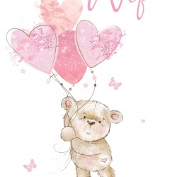 Amazing Wife I Love You Birthday Greeting Card (ML1011) - Female Teddy Bailey - Foil Finish - from Cherry Orchard