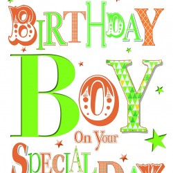 To The Birthday Boy On Your Special Day Glittered Foiled Happy Birthday Card
