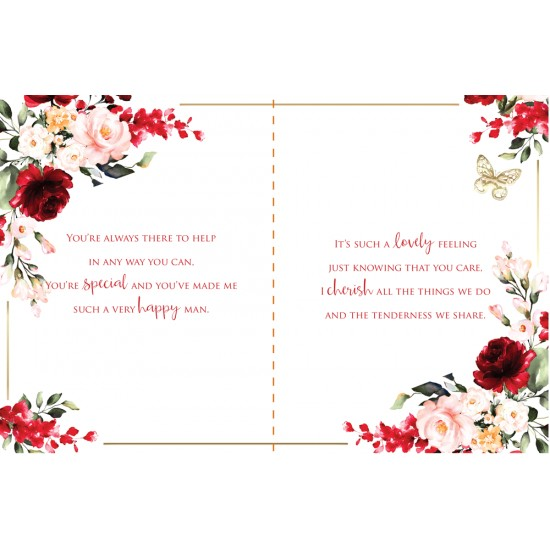 Wife you are Amazing 6 Verse Booklet insert Luxury Birthday Greeting Card
