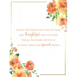 Amazing Mum 6 Verse Booklet insert Luxury Birthday Greeting Card