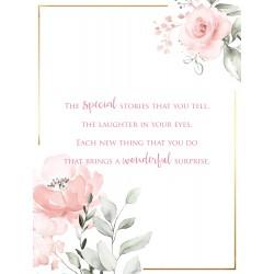 Amazing Daughter 6 Verse Booklet insert Luxury Birthday Greeting Card