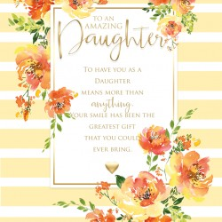 Daughter I Love You 6 Verse Booklet insert Luxury Birthday Greeting Card
