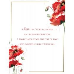 Sister 6 Verse Booklet insert Luxury Birthday Greeting Card