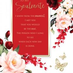 Soulmate 6 Verse Booklet insert Luxury Birthday Greeting Card