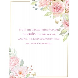 I Love You 6 Verse Booklet insert Luxury Birthday Greeting Card