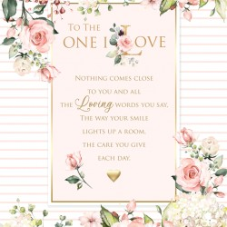 One I Love 6 Verse Booklet insert Luxury Female Birthday Greeting Card