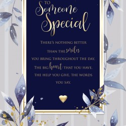 Someone Special 6 Verse Booklet insert Luxury Male Birthday Greeting Card