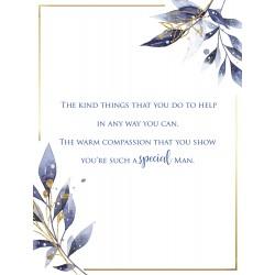 Amazing Husband 6 Verse Booklet insert Luxury Birthday Greeting Card