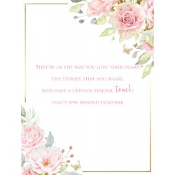 Lovely Granddaughter 6 Verse Booklet insert Luxury Birthday Greeting Card