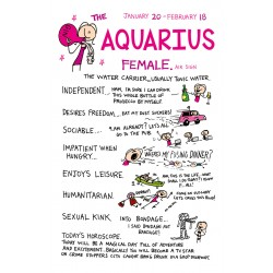 AQUARIUS the Water Carrier ♒ Jan 20 -Feb 18 FEMALE Astrological Zodiac Sign Greeting Card by Cherry Orchard