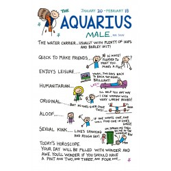 AQUARIUS the Water Carrier ♒ Jan 20 -Feb 18 MALE Astrological Zodiac Sign Greeting Card by Cherry Orchard