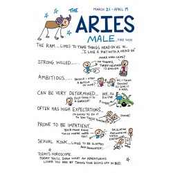 ARIES the Ram ♈  Mar 21- Apr 19 MALE Astrological Zodiac Sign Greeting Card by Cherry Orchard
