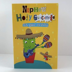 Nephew Holy Guacamole It's Your Birthday Greeting Card