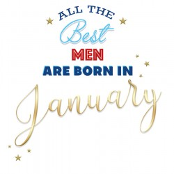 All The Best Men Are Born In January Male Happy Birthday Card Facts Inside