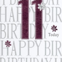 11th Today Happy Birthday Foiled Greeting Card