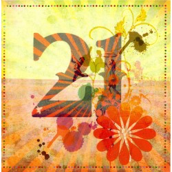 Happy 21st Glittered Birthday Card