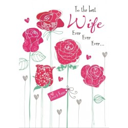 To The Best Wife Ever Happy Birthday Card