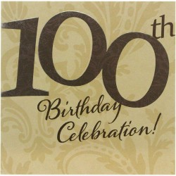 100th Birthday Celebration Foiled Finished Card