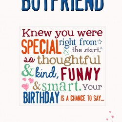 To My Lovely Boyfriend Birthday Card