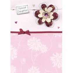 Special Daughter Embellished Birthday Greeting Card