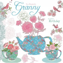 To A Wonderful Granny On Your Birthday Card