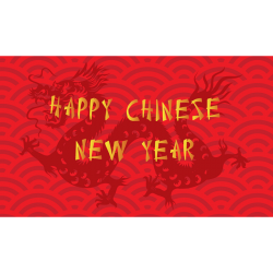 Happy Chinese New Year Red Hidden Dragon Luxury Money Wallet Gift Card