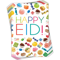 Happy Eid Sweet Treats Greeting Cards Multi Pack of 6