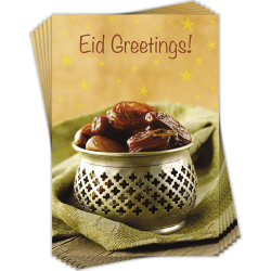 Eid Greetings Dates Bowl Greeting Cards Pack of 6