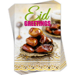 Eid Greetings Dates Greeting Cards Pack of 6