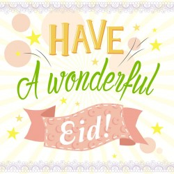 Have a Wonderful Eid Greeting Card with Glitter finish
