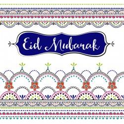 Eid Mubarak pattern Glitter finish Greeting Card
